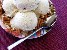 Bourbon Pecan Ice Cream